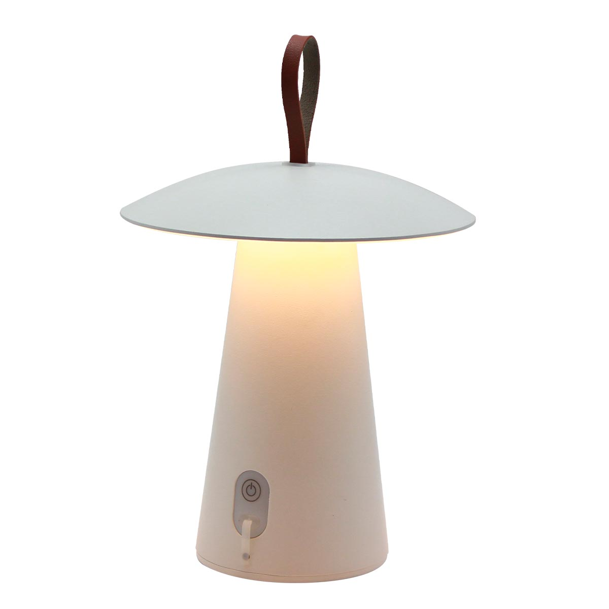 FUNGY - Lampe de table sans fil aluminium blanc 29cm
