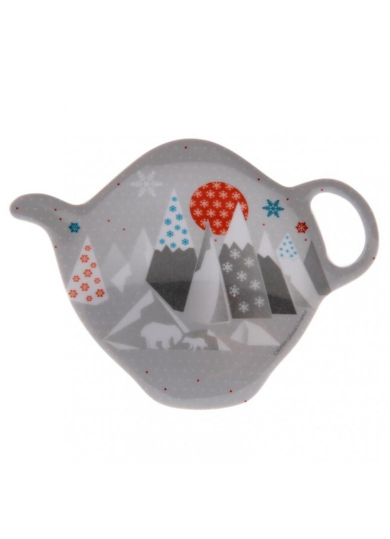 Repose sachet thé en céramique grise