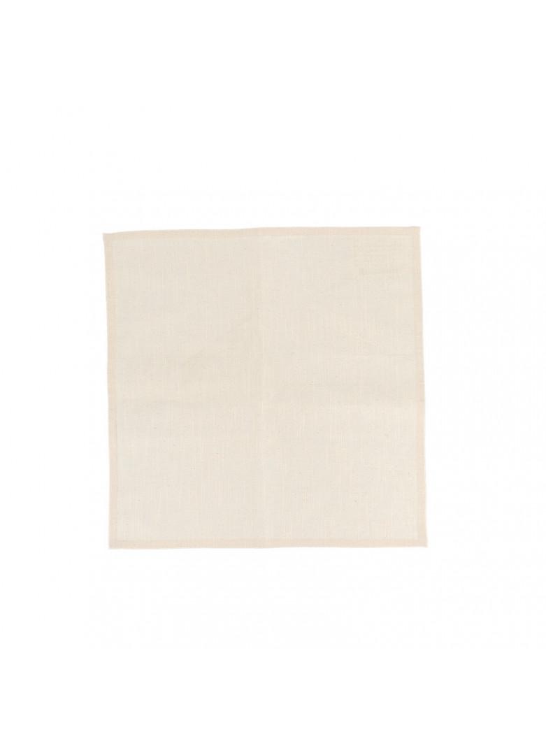 Serviette de table en coton beige 40x40