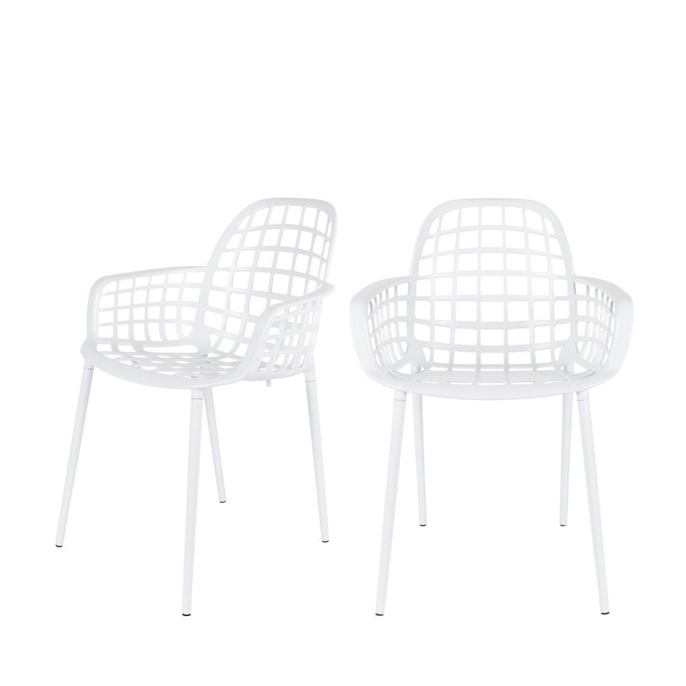 2 chaises indoor et outdoor blanc