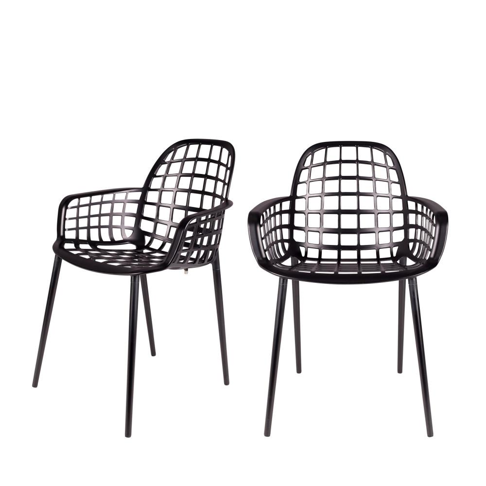 2 chaises indoor et outdoor noir