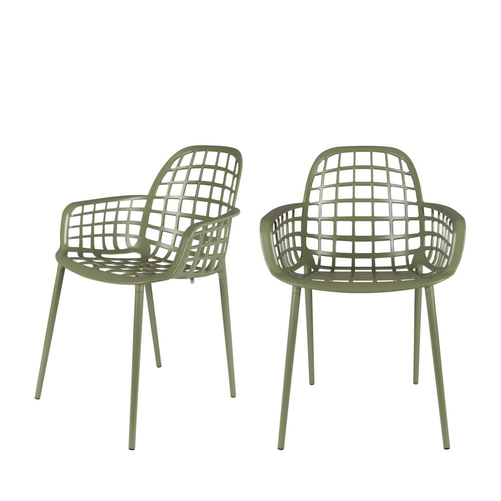 2 chaises indoor et outdoor vert