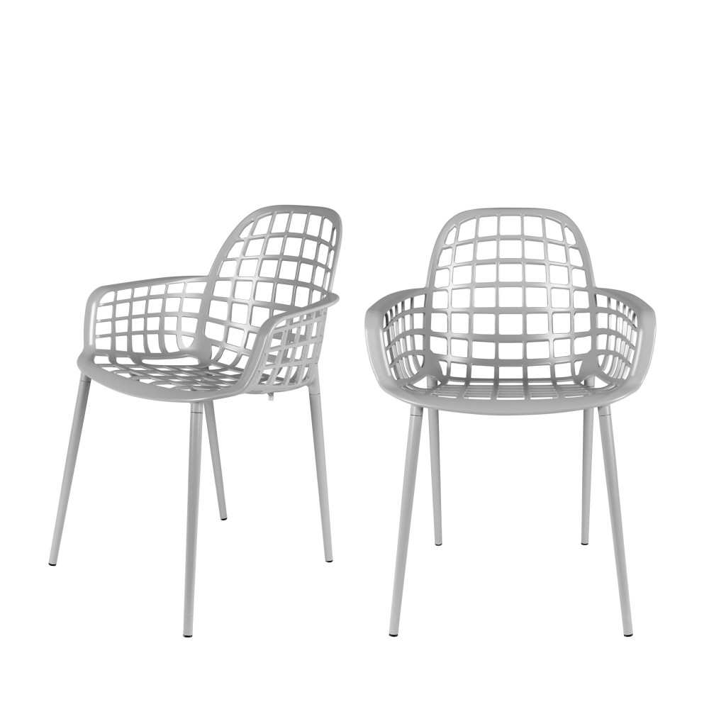 2 chaises indoor et outdoor gris
