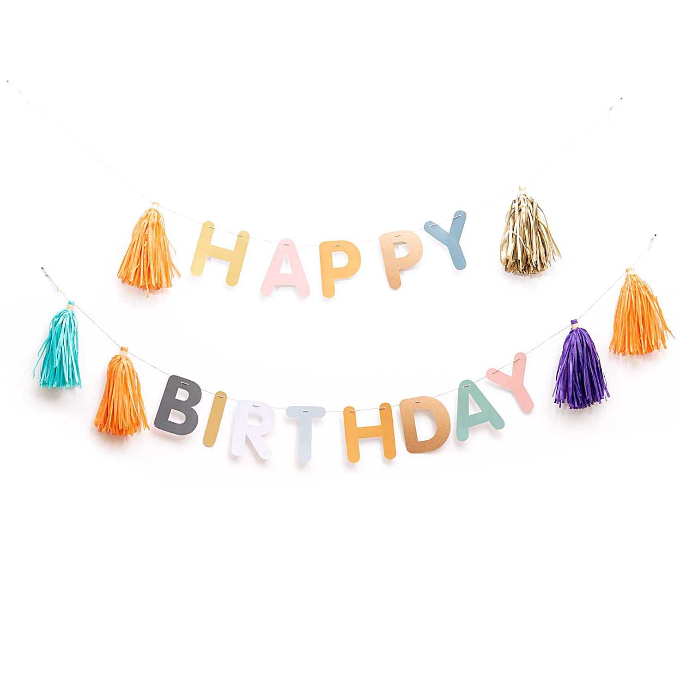 Guirlande Happy Birthday 3m