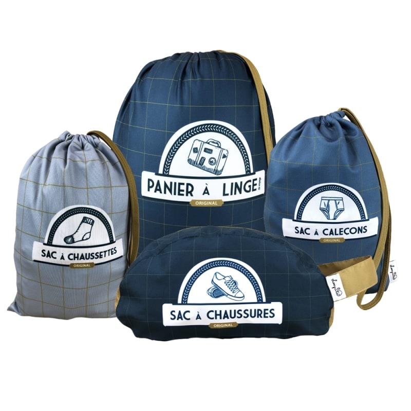 Assortiments de sacs et pochettes pour la valise