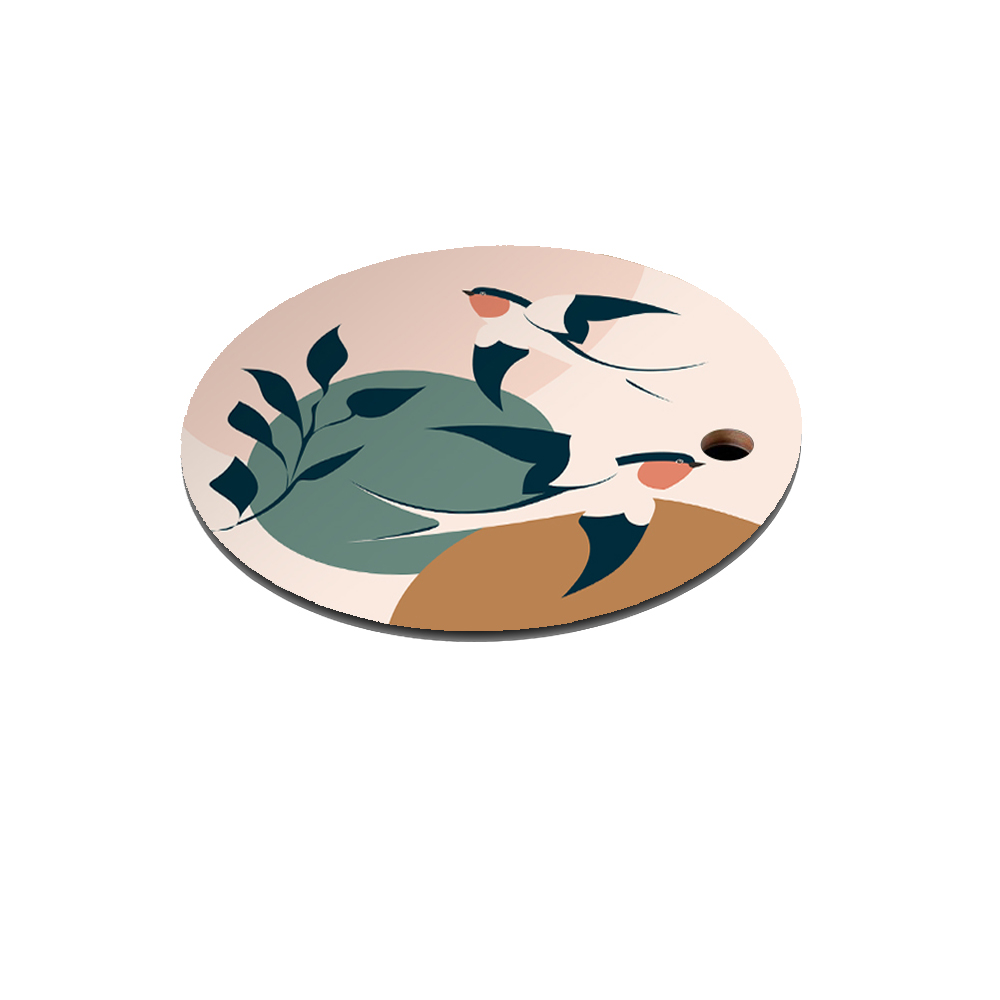 Dessous de plat en bois hirondelles