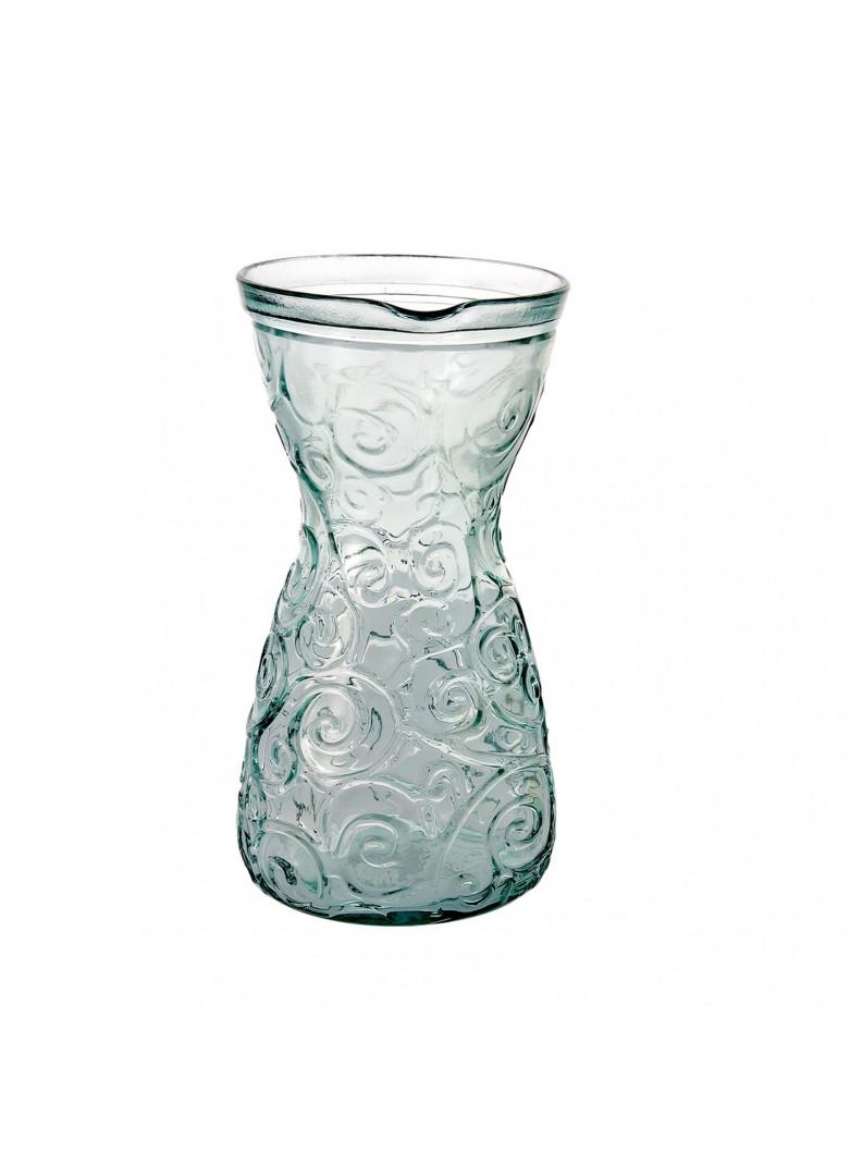 Carafe verre recyclé volutes 1L