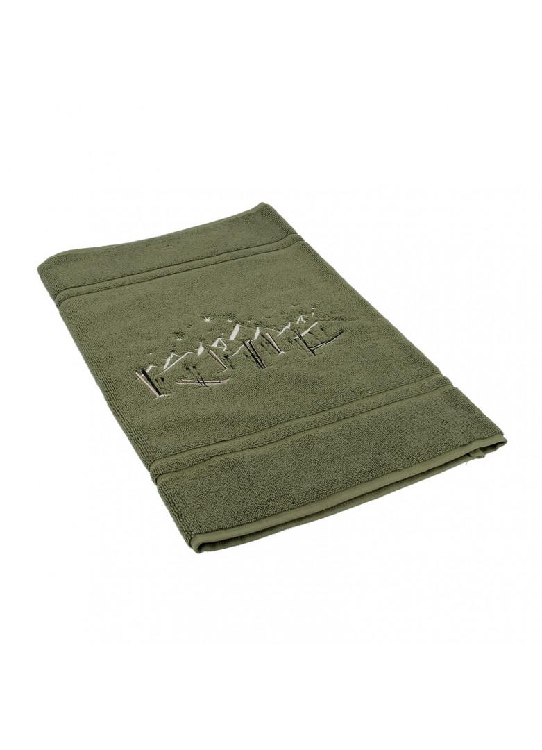 Tapis de bain en coton vert 90x50
