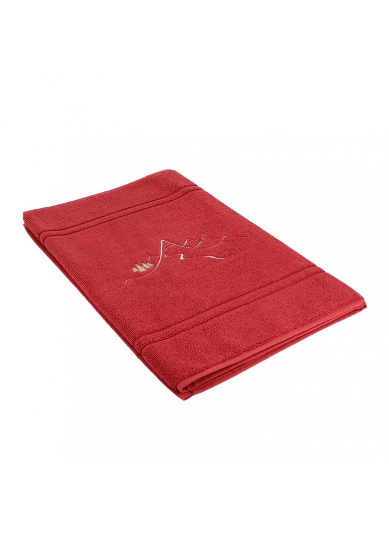 Tapis de bain en coton rouge 90x50