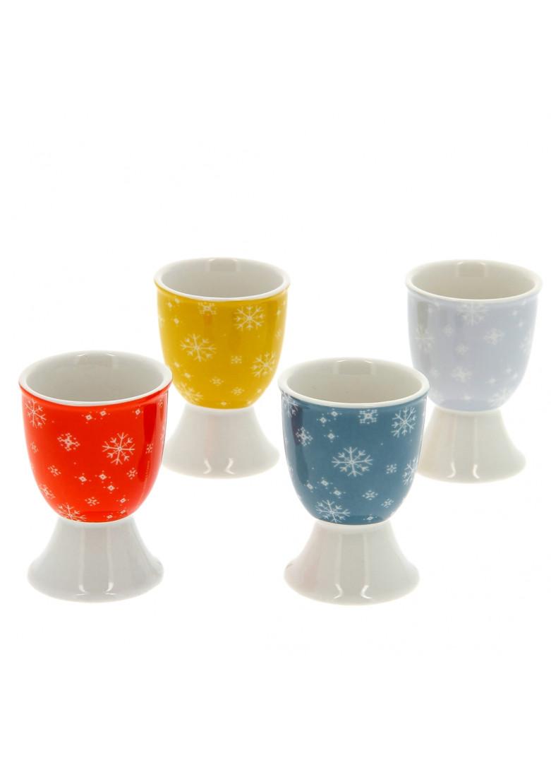 Coquetier en porcelaine - Lot de 4