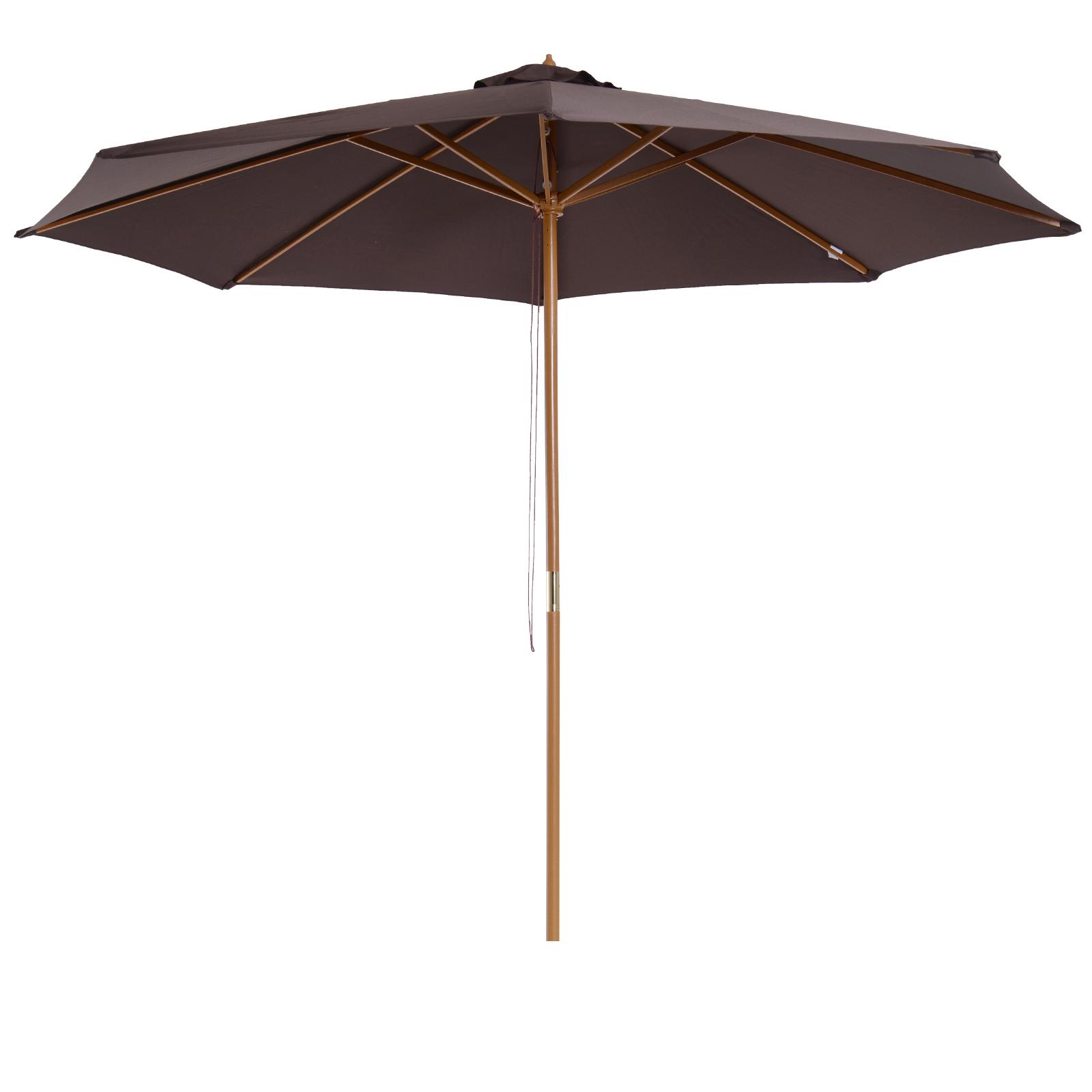 Parasol rond grande taille chocolat