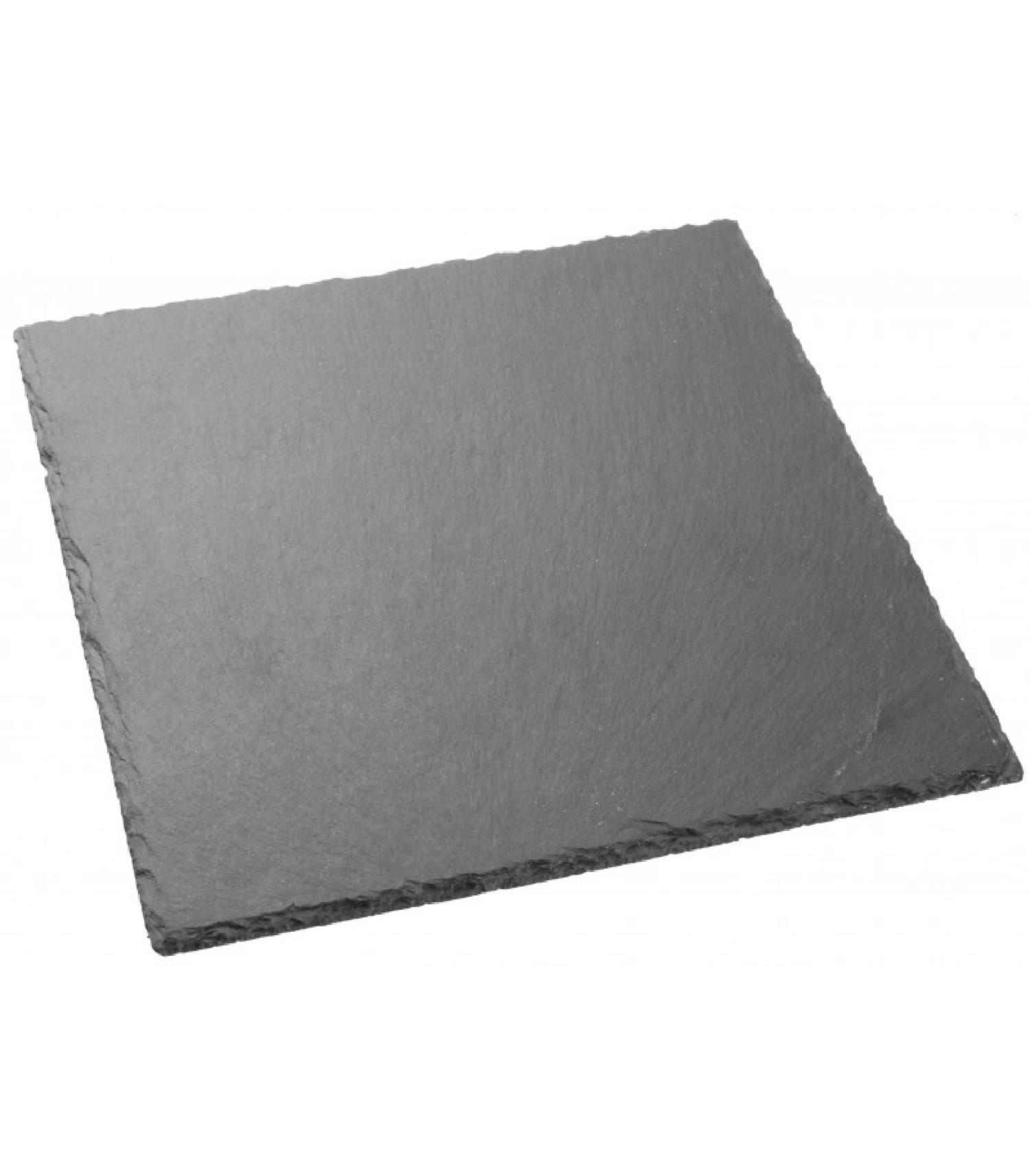 Assiette en ardoise carrée 30x30cm