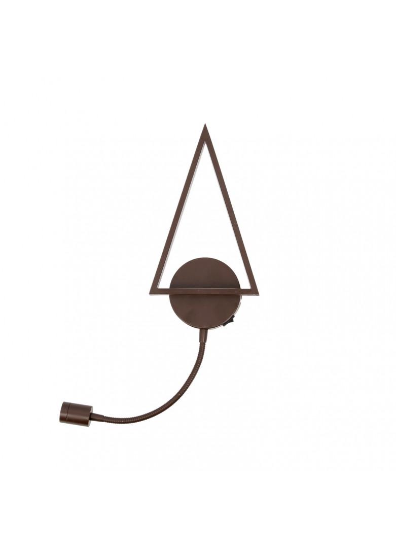 Applique led sapin liseuse métal brun H28cm