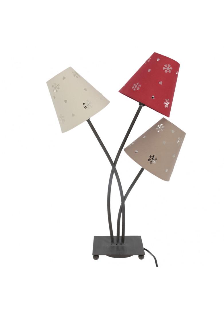 Lampe à poser avec 3 abat-jours H60cm