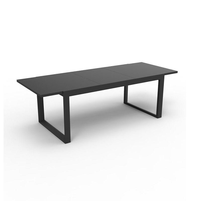 Table en aluminium et verre extensible 8 places gris anthracite