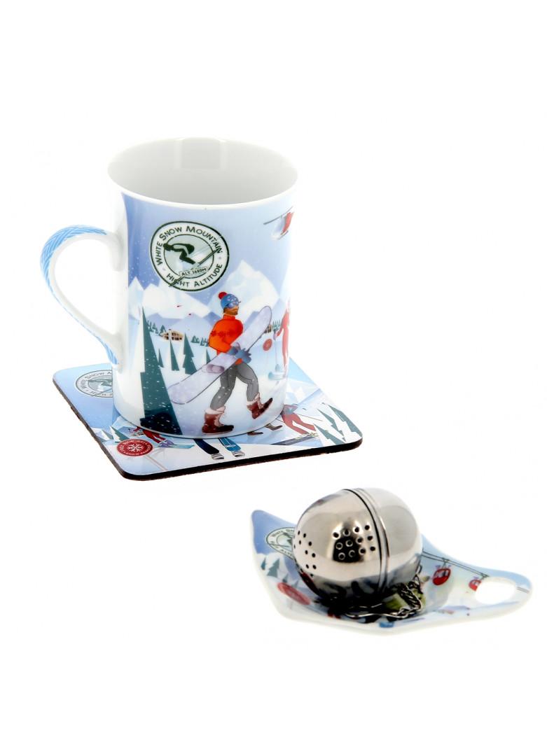 Set à thé mug, boule à thé, repose sachet