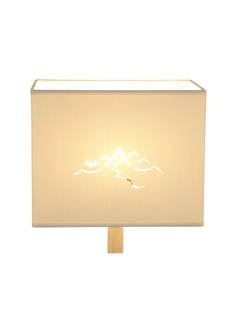 Abat-jour rectangulaire montagne en micro-découpe crème L20cm