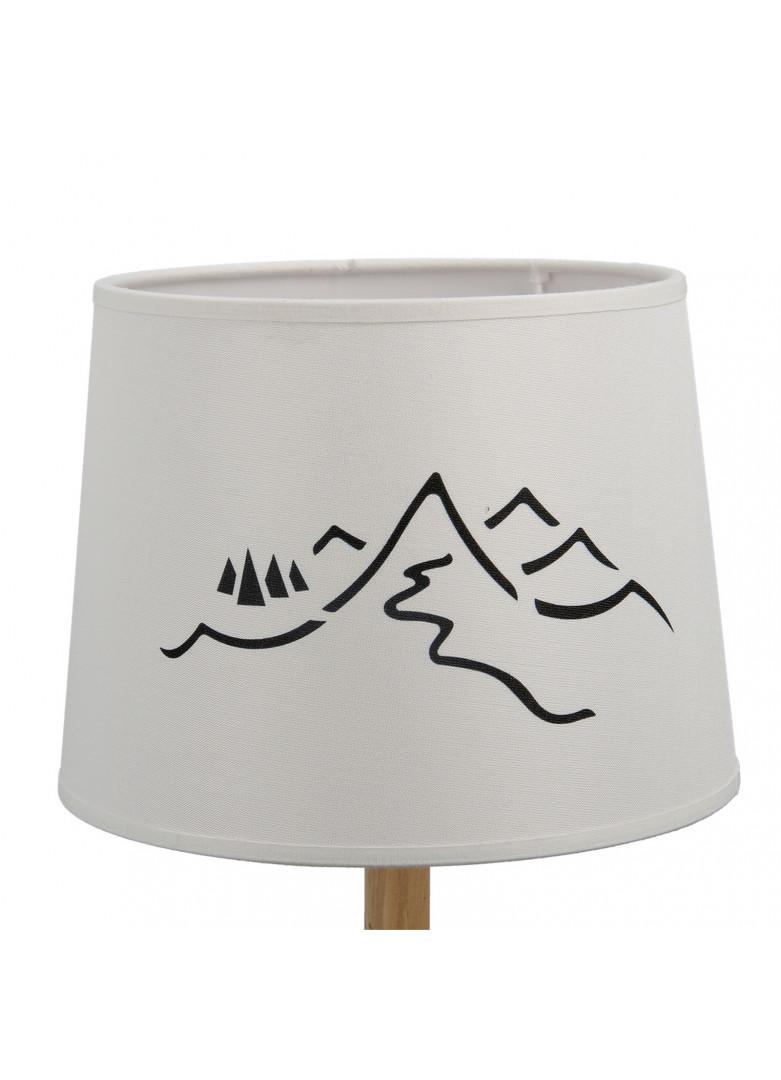 Abat-jour cylindrique montagne en impression blanc D20cm