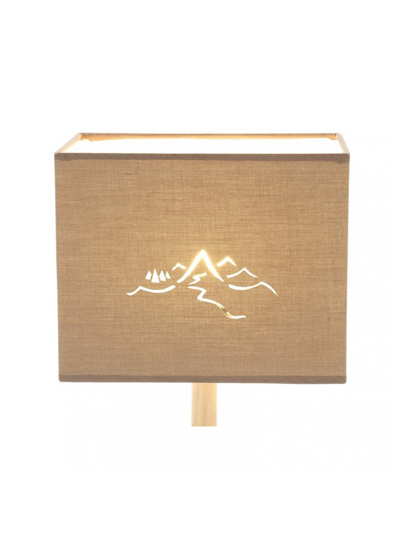 Abat-jour rectangulaire montagne en micro-découpe taupe L20cm