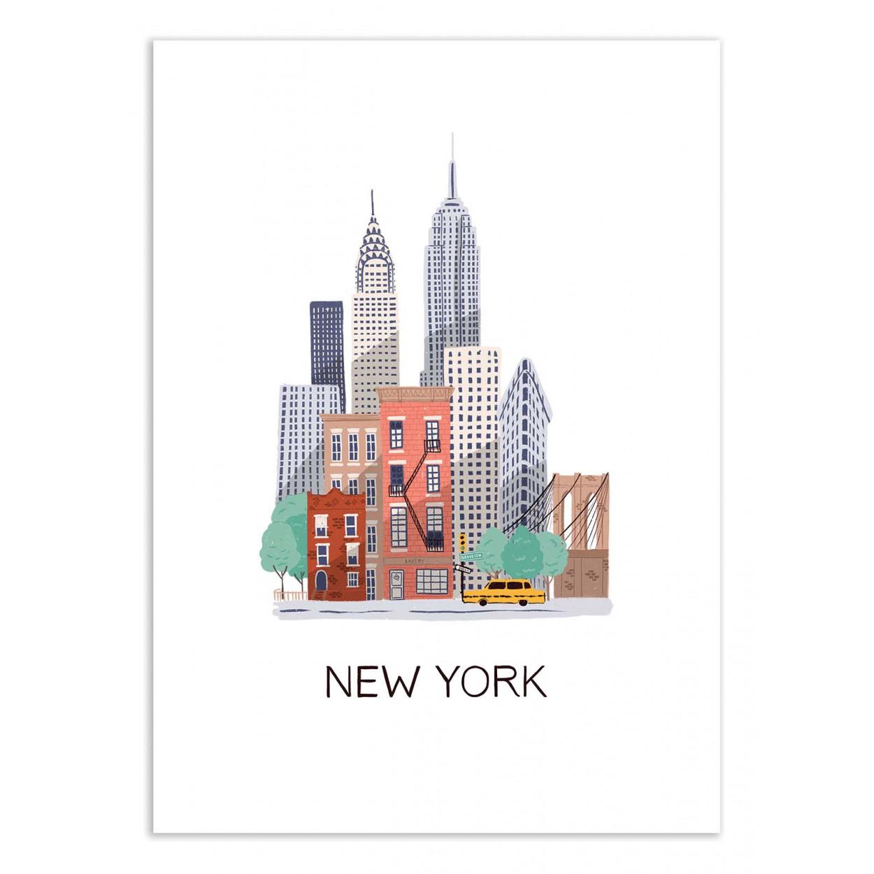 NEW YORK - MAJA TOMLJANIC -  Affiche d'art 50 x 70 cm