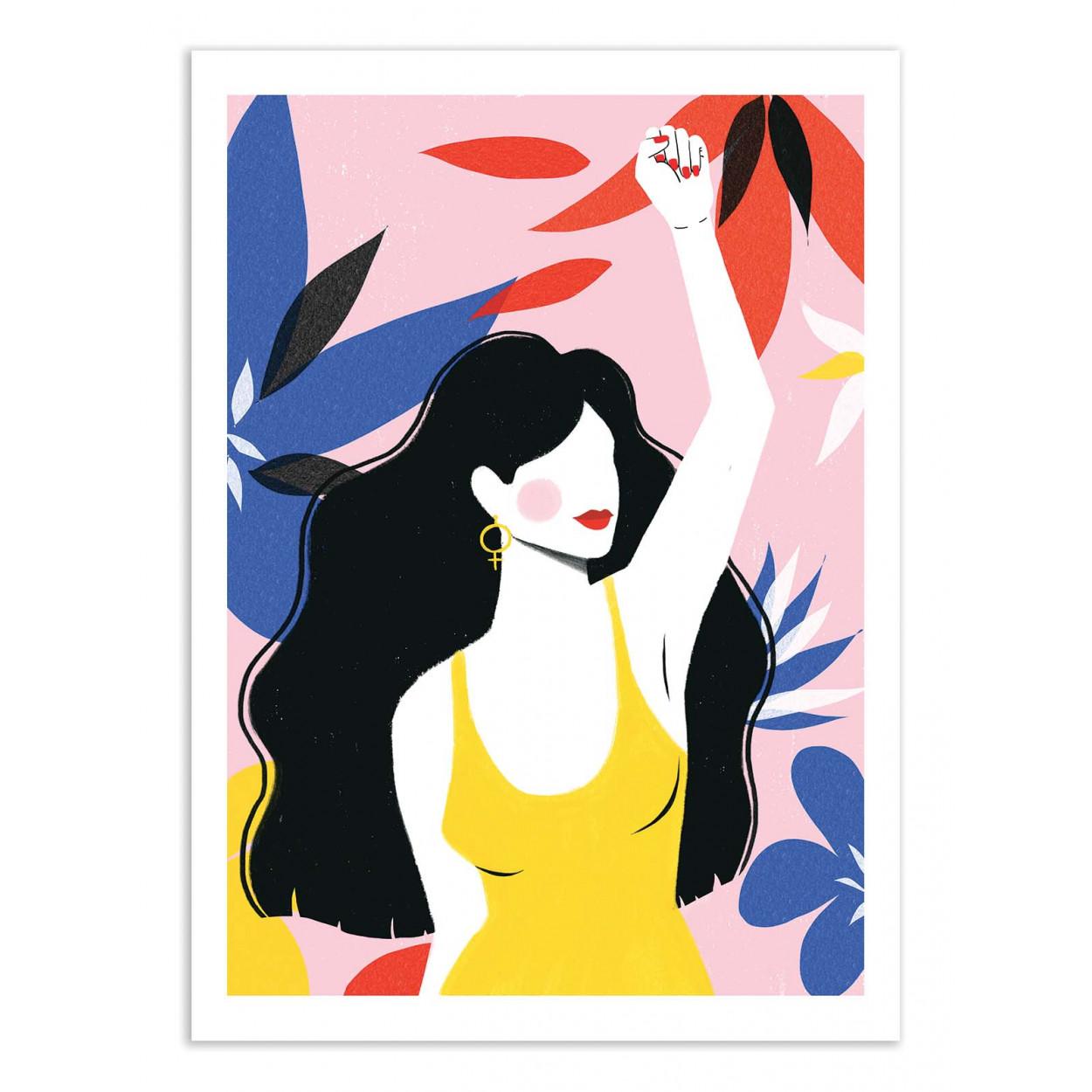 SPEAKOUT - MAJA TOMLJANIC - Affiche d'art 50 x 70 cm