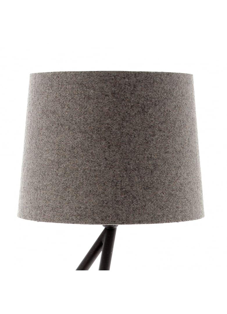 Abat-jour cylindrique en laine gris D20cm