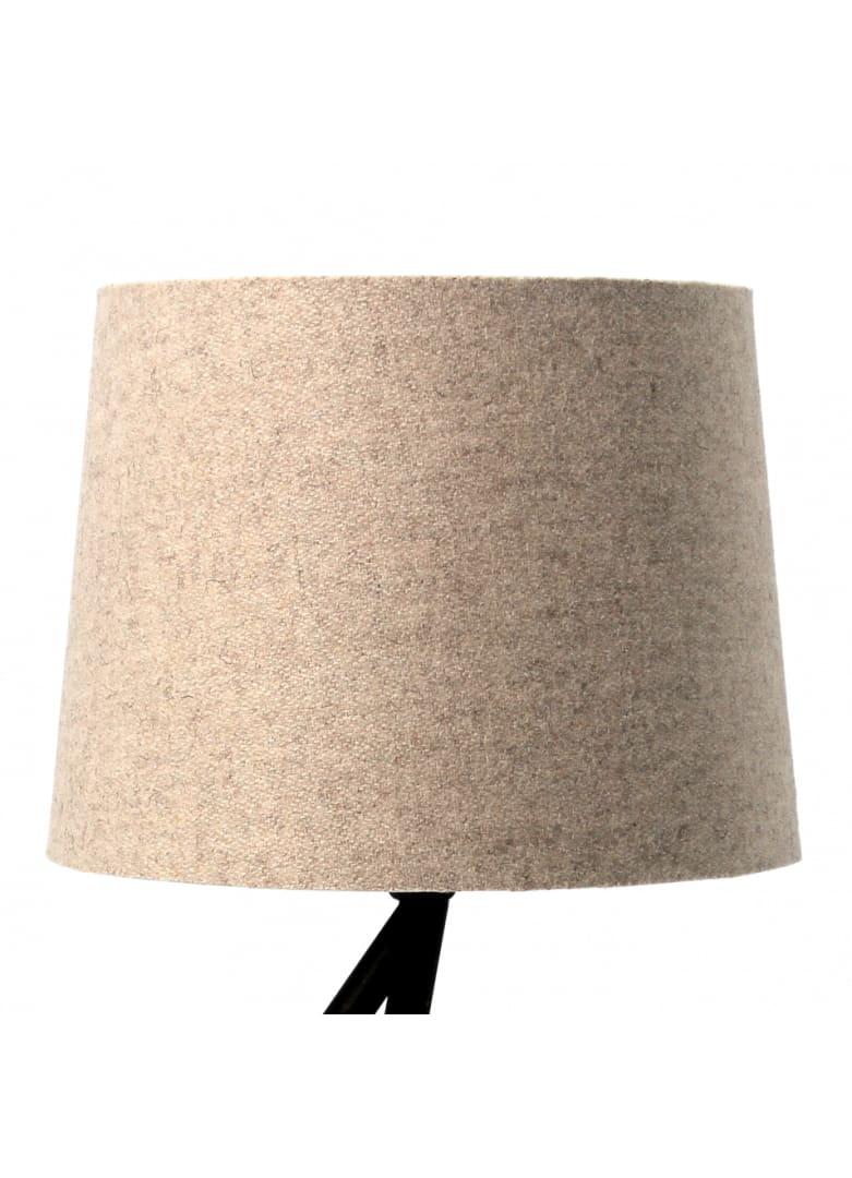 Abat-jour cylindrique en laine beige D20cm