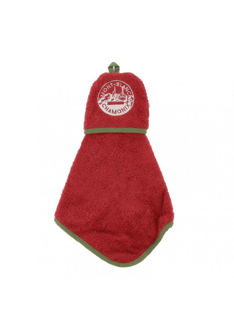 Torchon manique en coton rouge