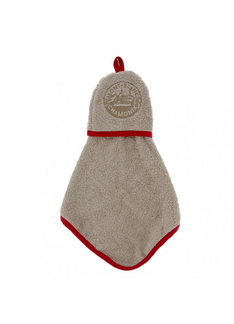 Torchon manique en coton taupe