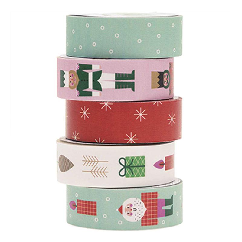 Set de 5 masking tapes Noël