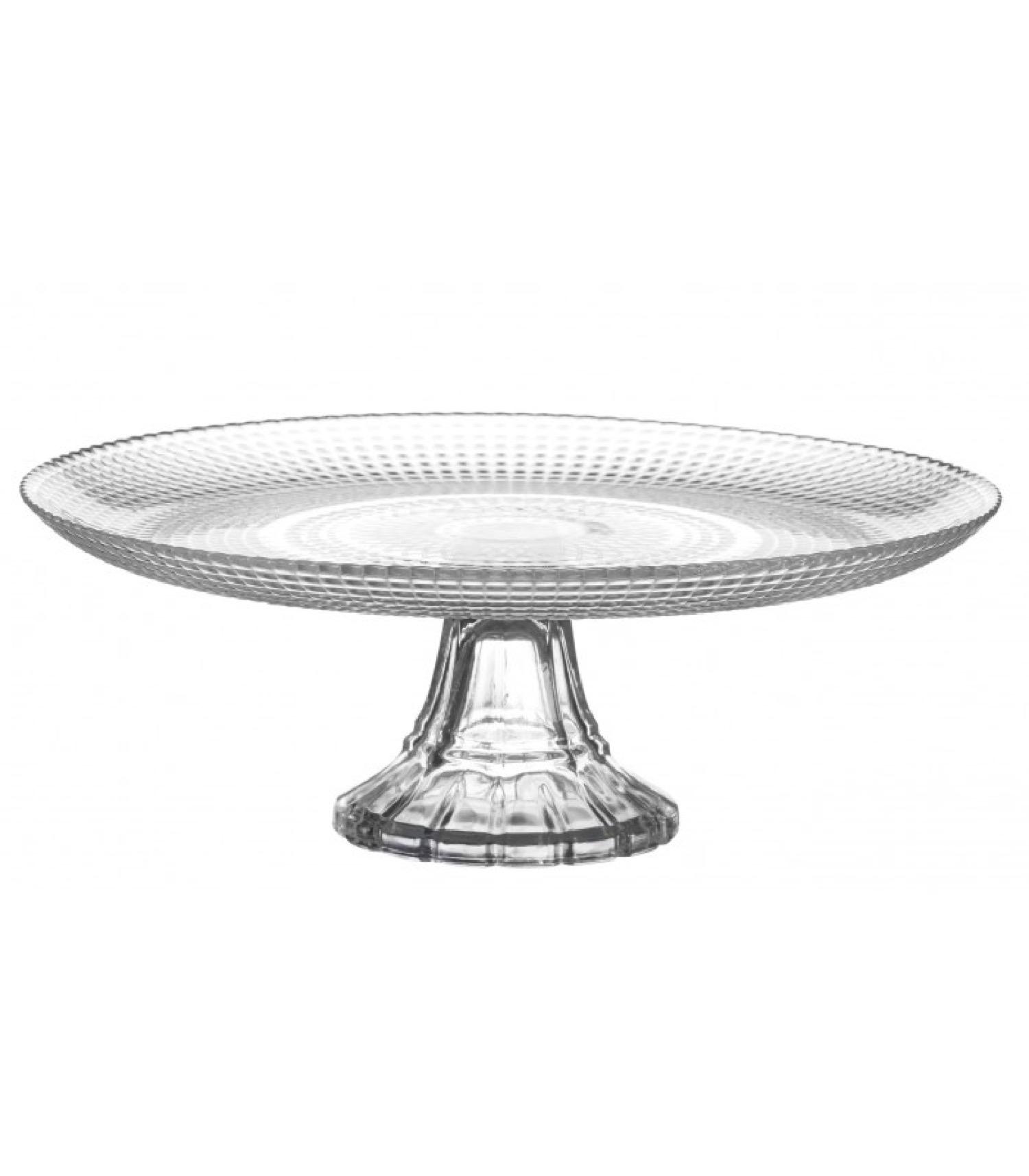 Présentoir à gâteau ou tarte sur pied rond en verre D27cm