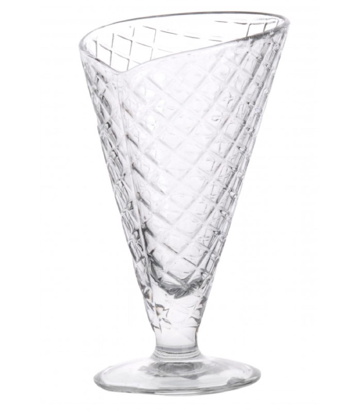 Coupe à glace en verre H16,5cm
