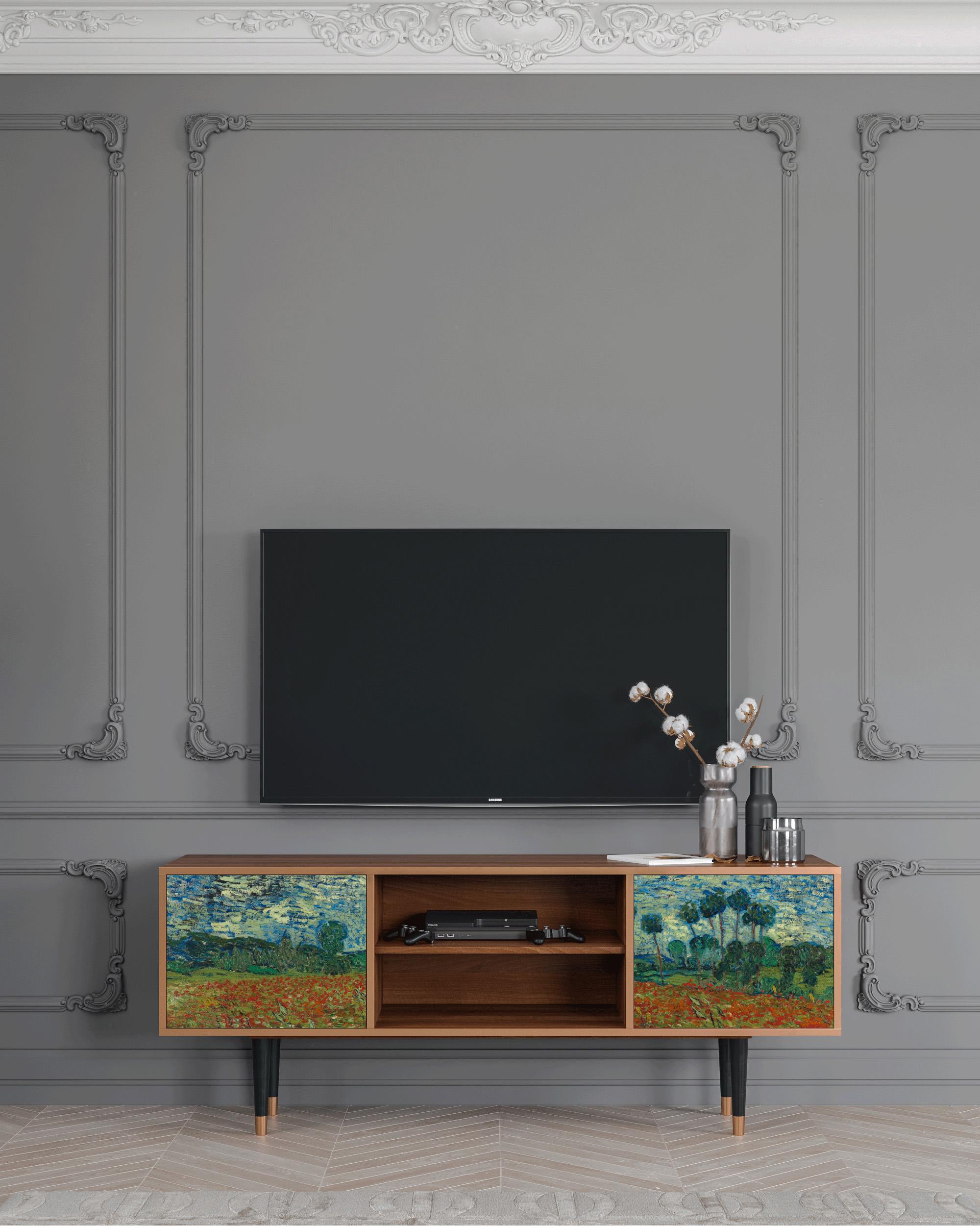 Meuble TV multicolore 170cm 2 portes