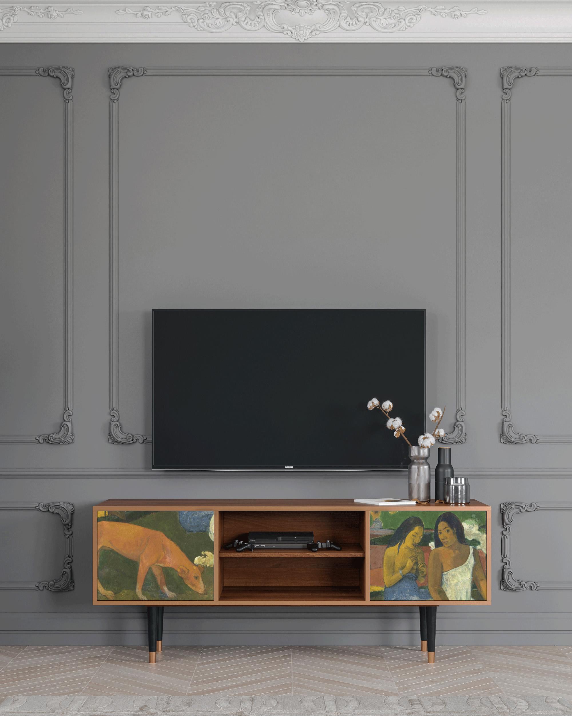 Meuble TV vert 170cm 2 portes