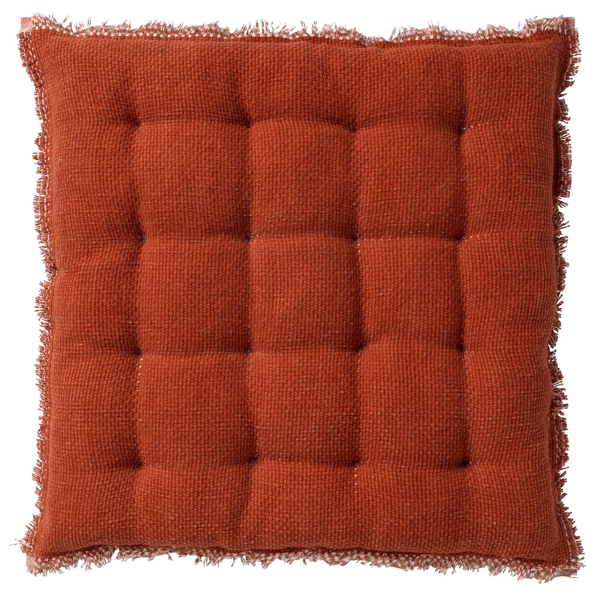 Coussin de sol en coton Terracotta 40x40
