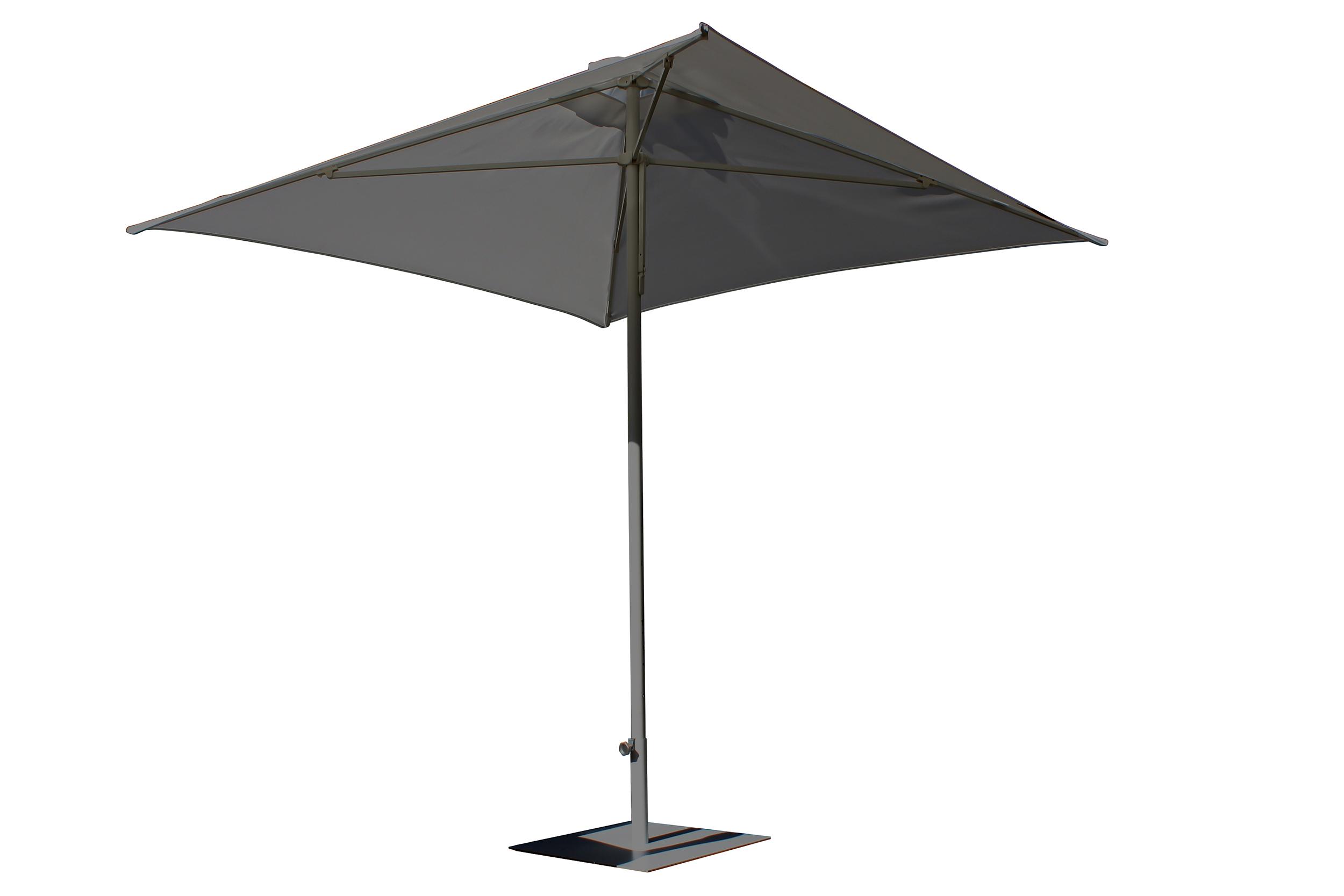 Parasol en aluminium laqué et toile OLEFIN® gris anthracite