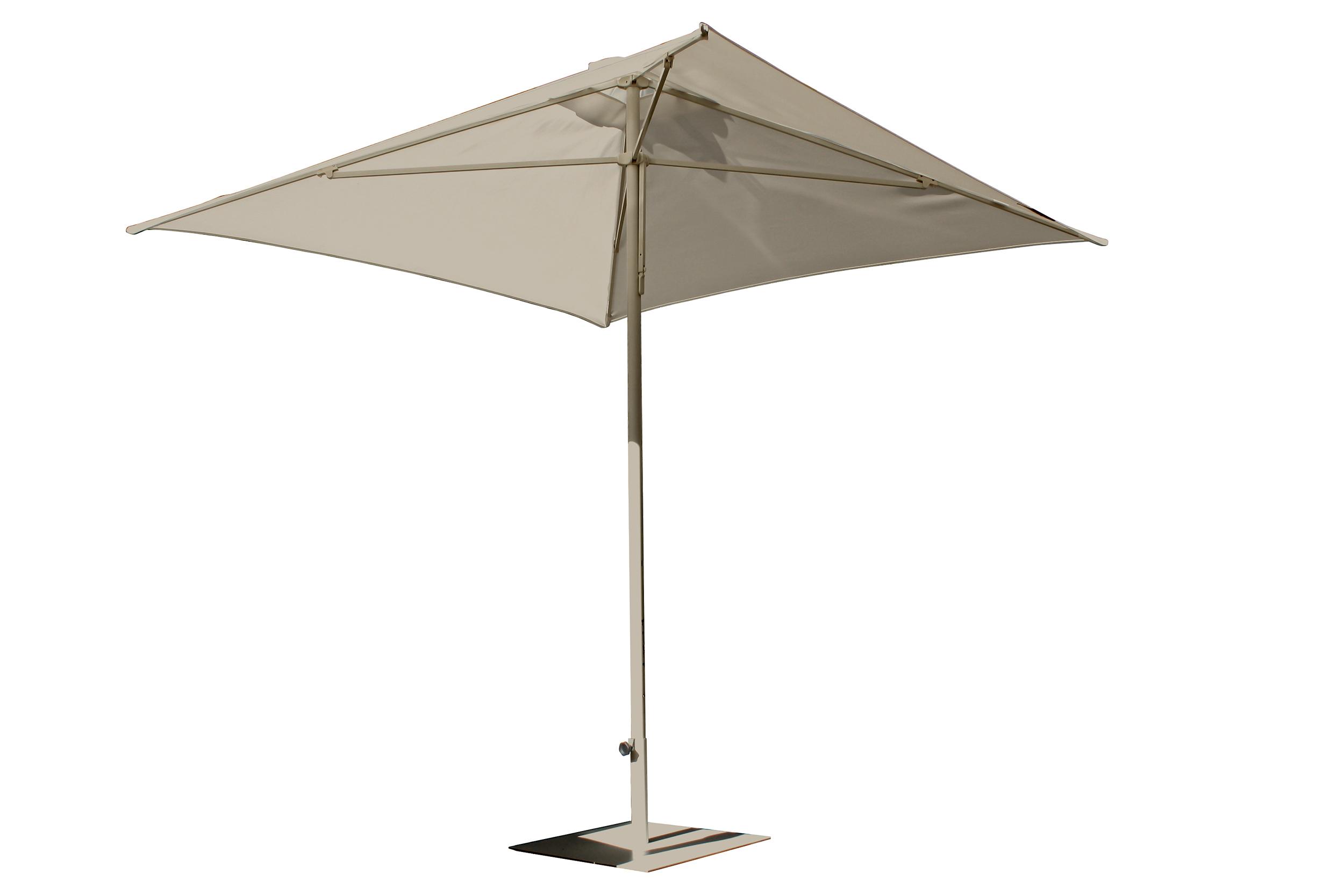 Parasol en aluminium laqué et toile OLEFIN® taupe