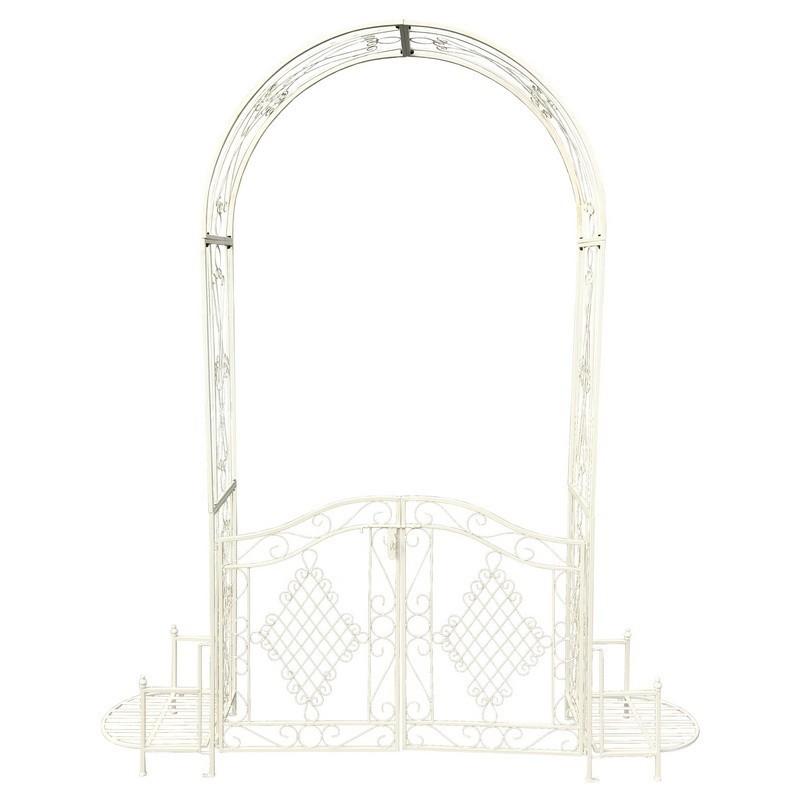 Arche de jardin en fer blanc