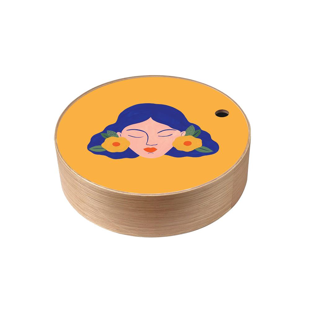 Boite de rangement en bois Frida  taille L