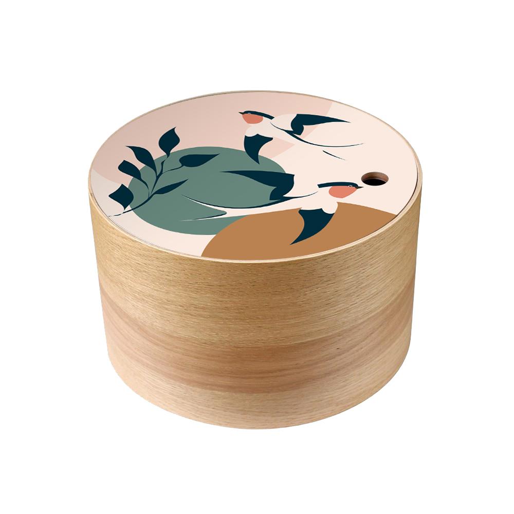 Boite en bois de rangement Hirondelles  taille M