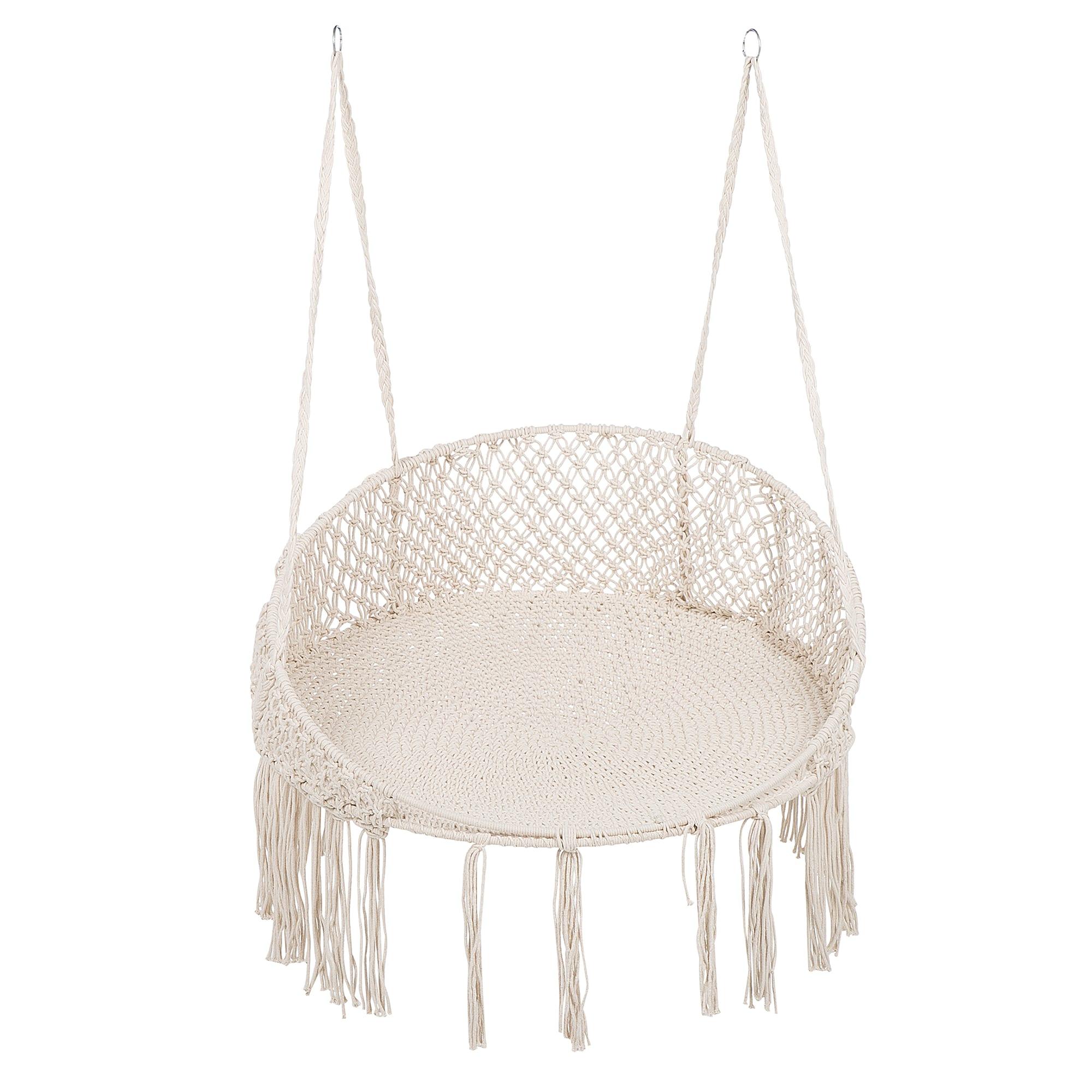 Chaise suspendue en coton blanc