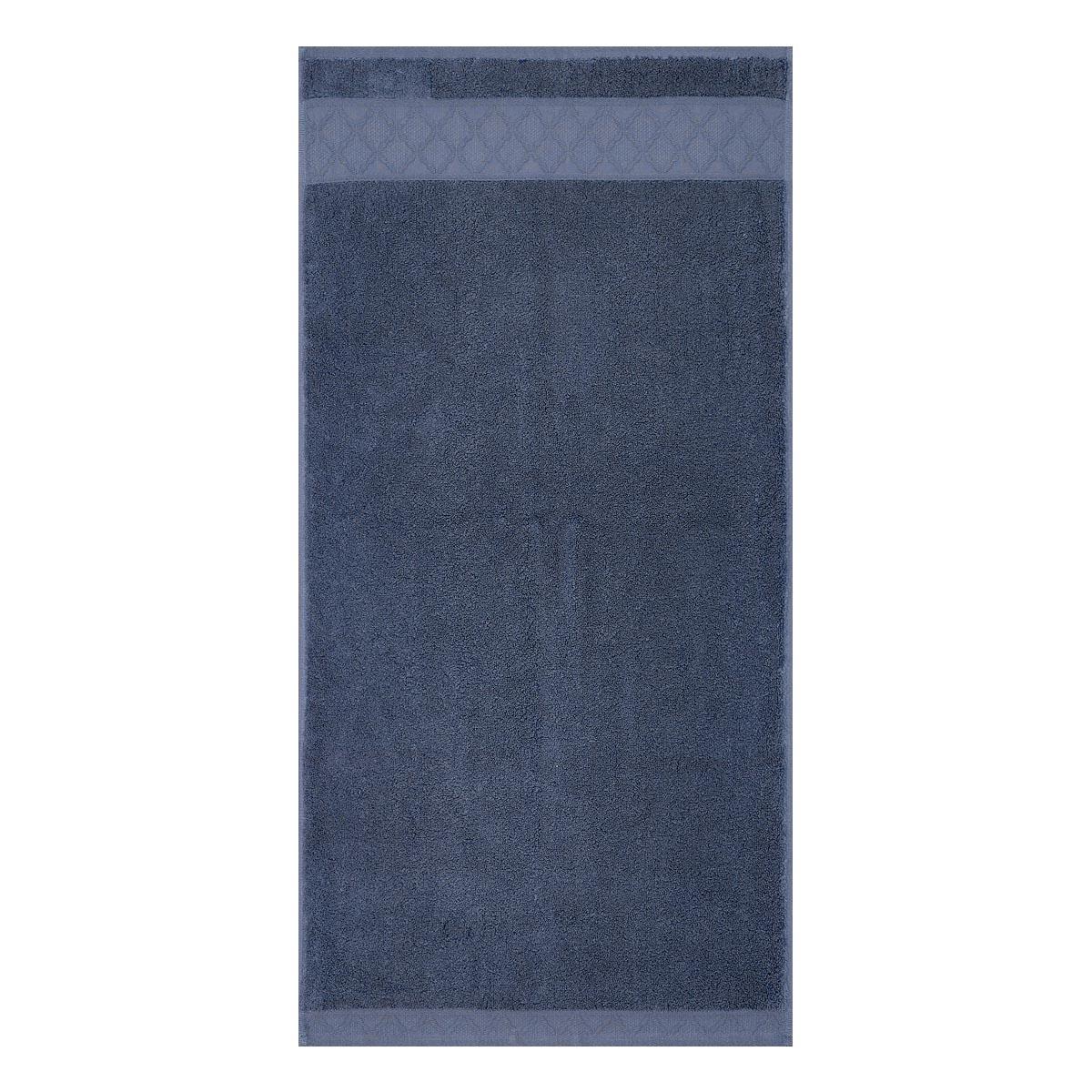 Serviette en coton bleu orient 50 x 100