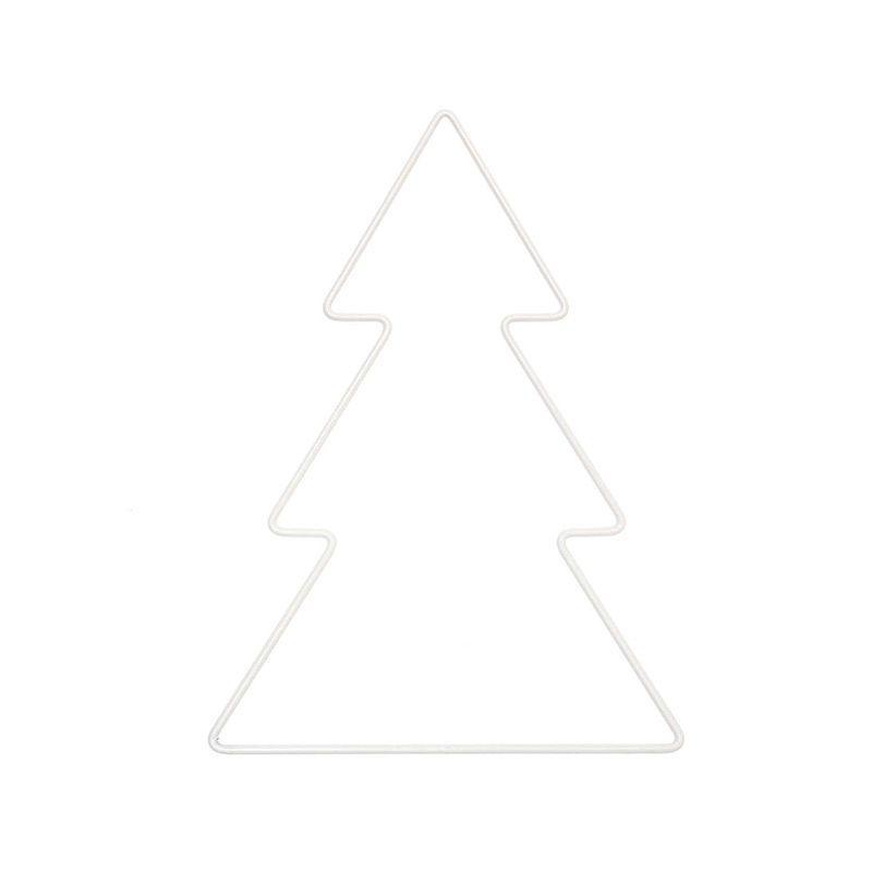 Sapin métallique blanc 14x20cm
