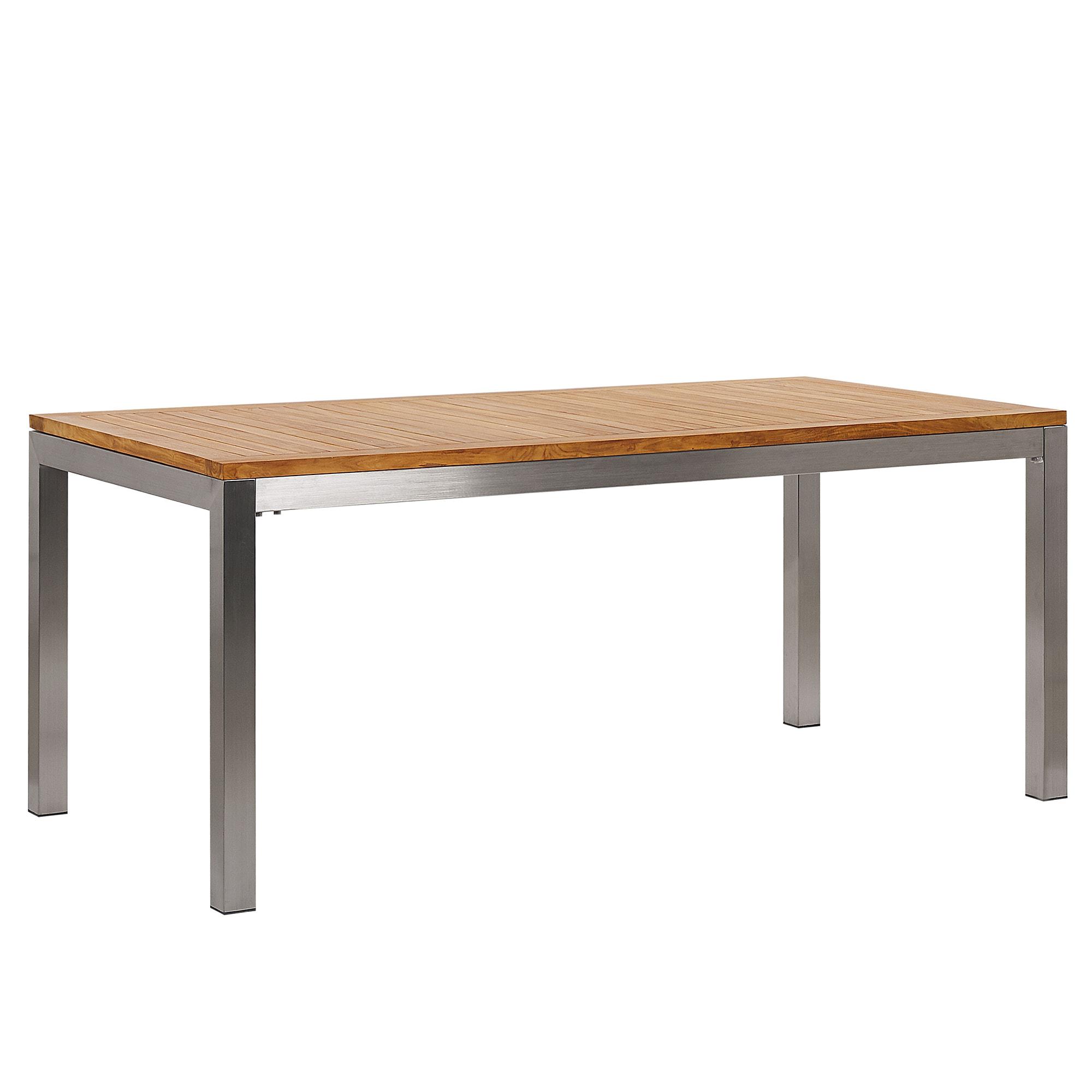 Table de jardin plateau en bois teck L180cm