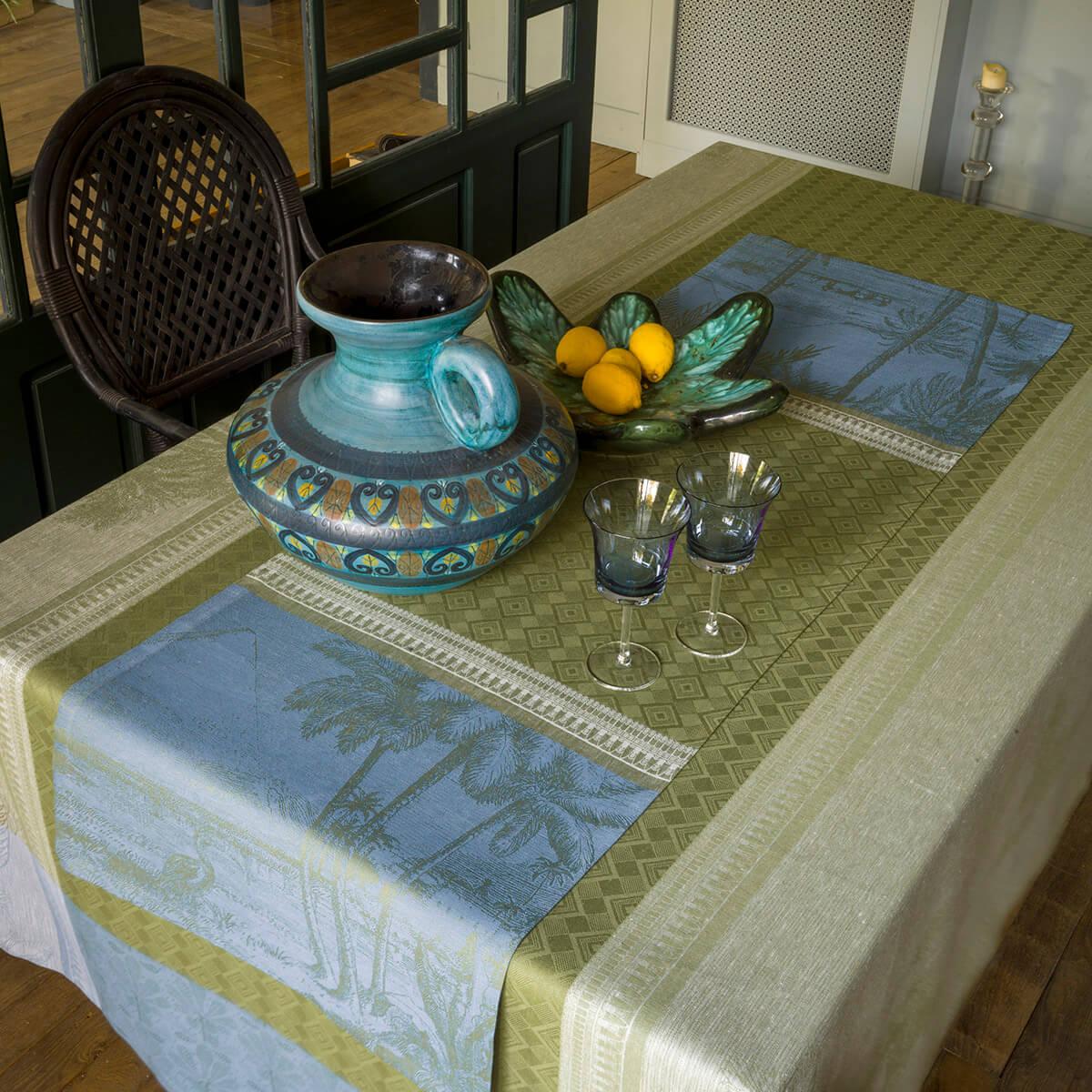 Chemin de table en lin palmier 50 x 150