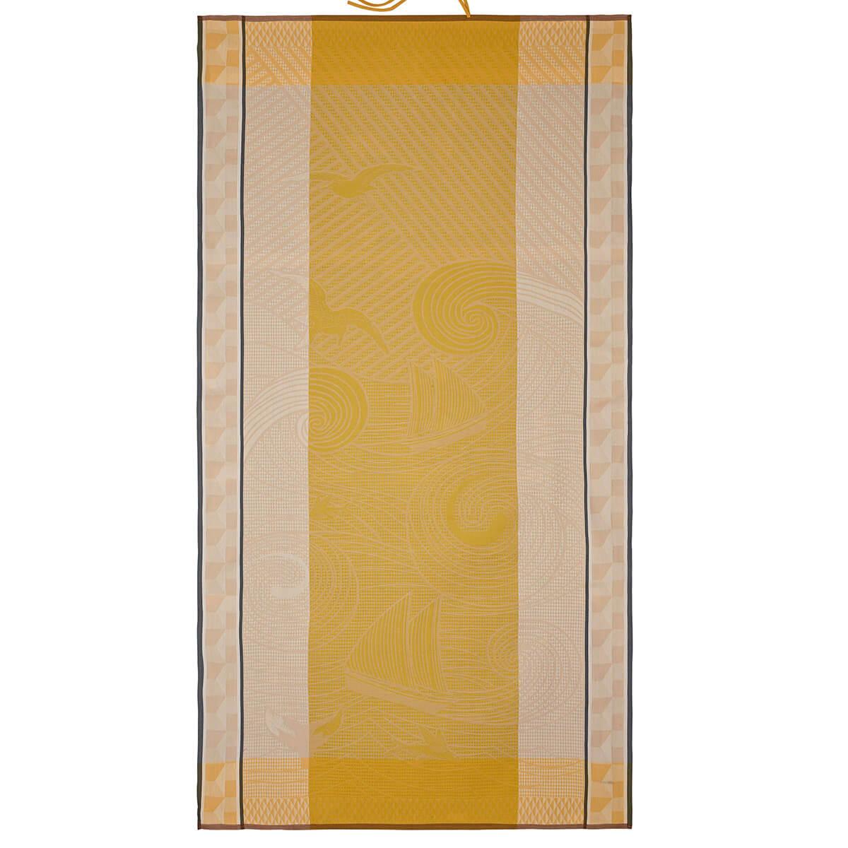 Drap de plage en coton sable 100 x 200