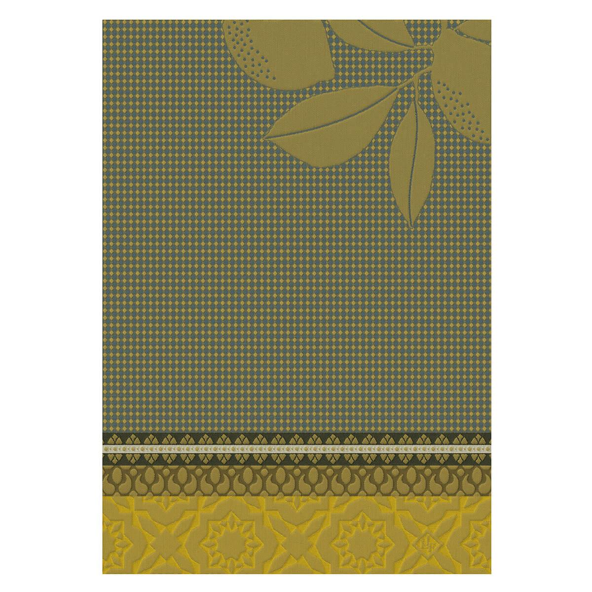 Essuie-mains en coton jaune 54 x 38