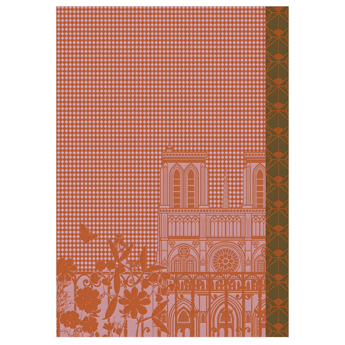 Essuie-mains en coton capucine 54 x 38
