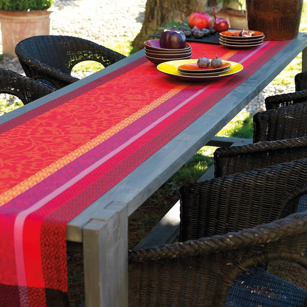 Chemin de table en coton gariguette 55 x 150
