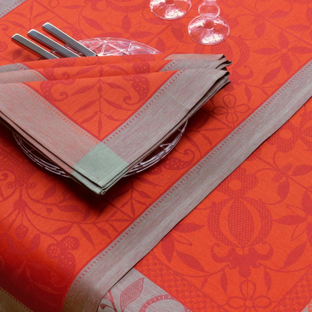 Chemin de table en lin cornaline 55 x 150